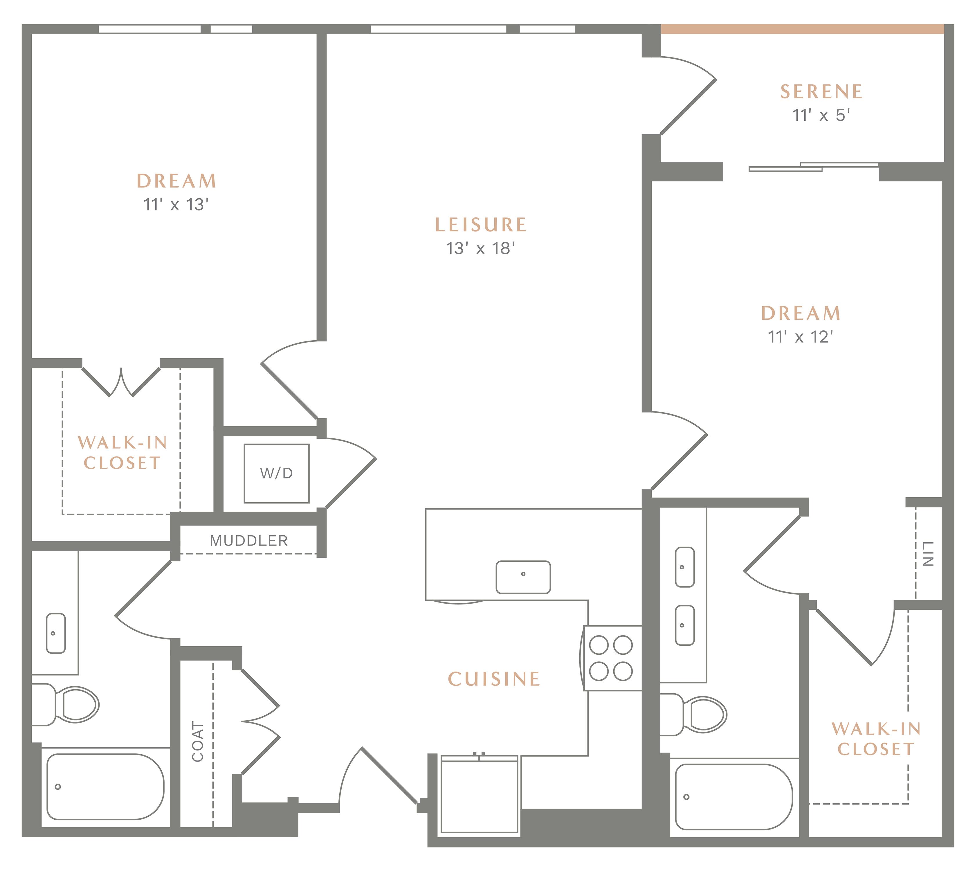 Alexan Heartwood Two Bedroom Floor Plan B7