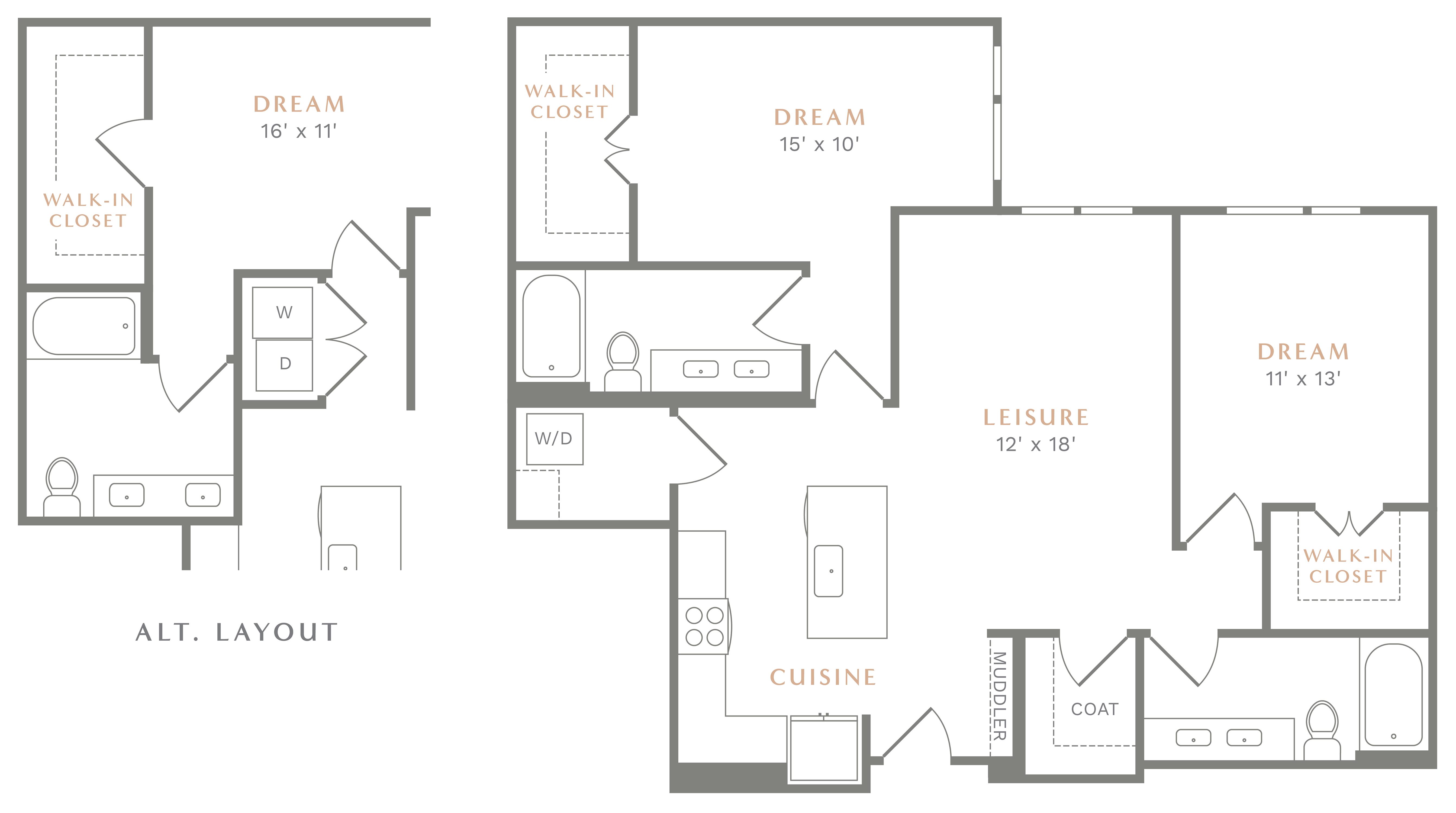 Alexan Heartwood Two Bedroom Floor Plan B9