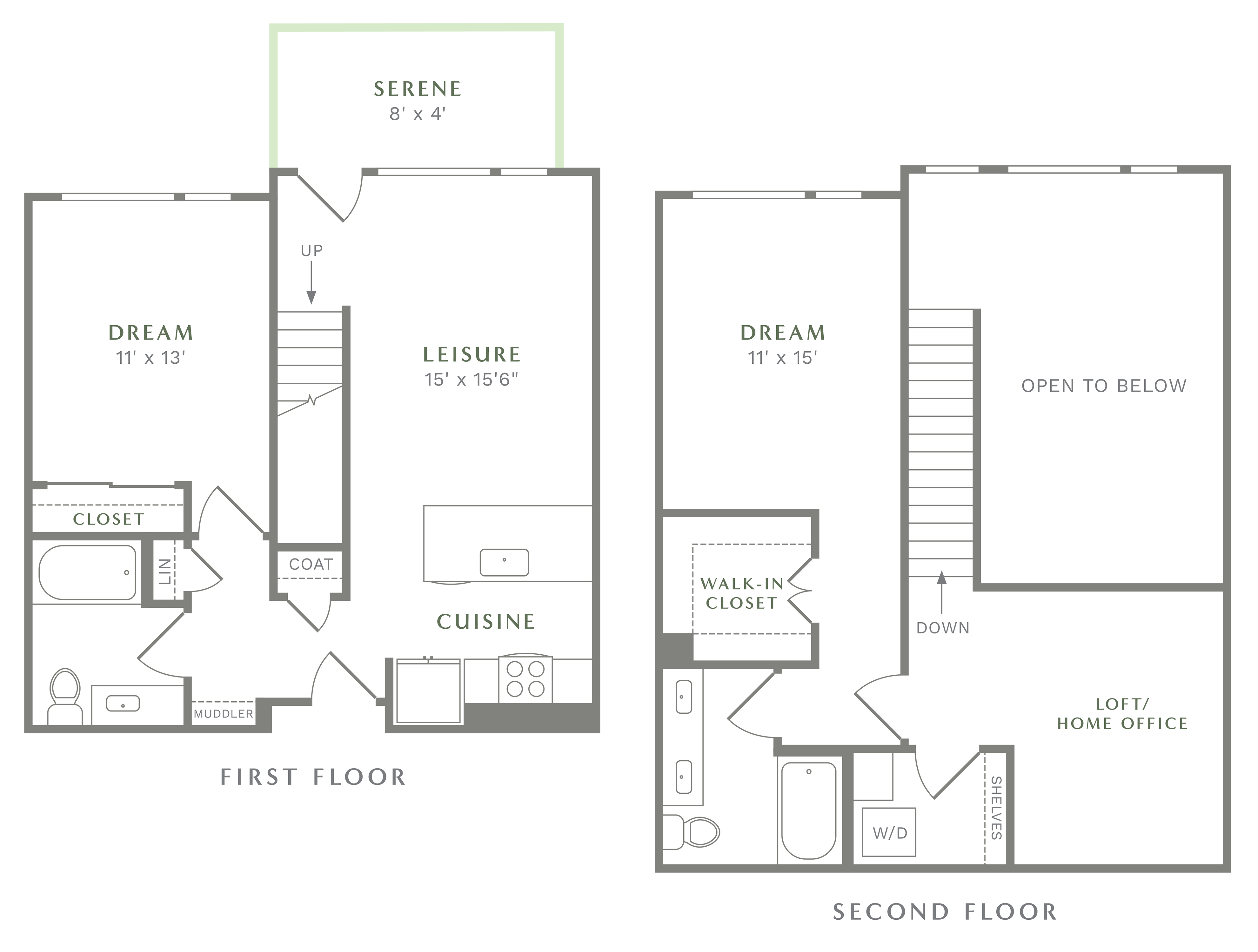 Alexan Heartwood Two Bedroom Townhome Floor Plan TH2