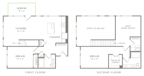 Alexan Heartwood Two Bedroom Townhome Floor Plan TH3