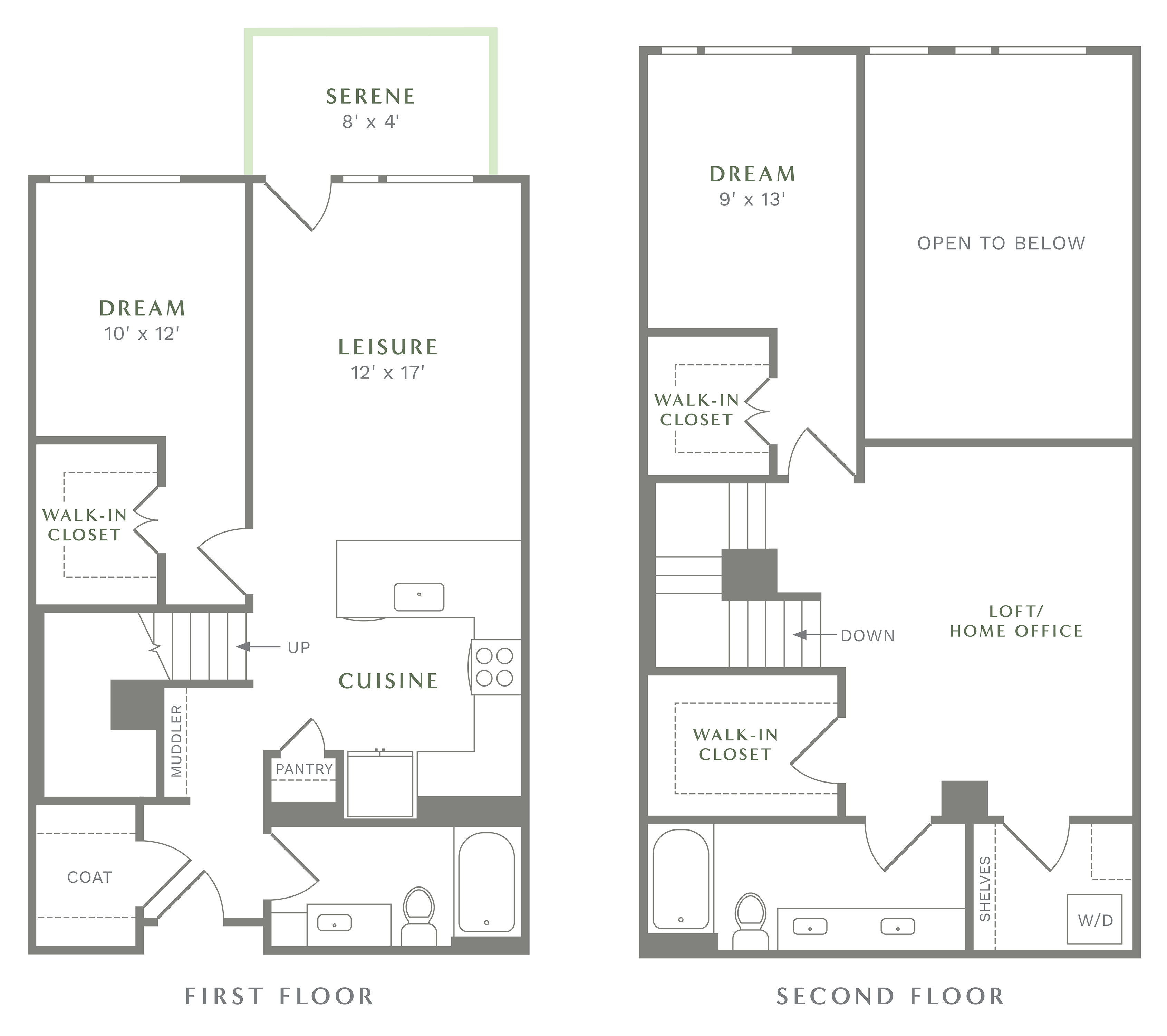 Alexan Heartwood Two Bedroom Townhome Floor Plan TH4