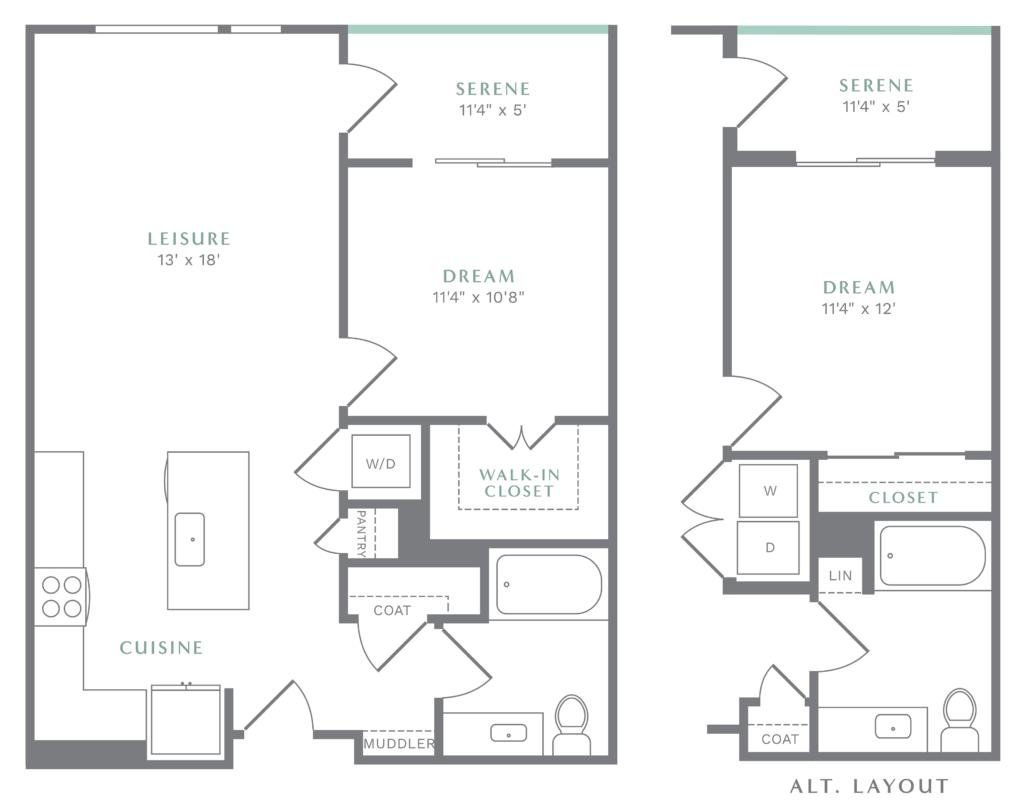 Idyllic One-Bedroom Luxury Apartments